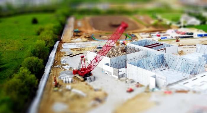 Chantier de construction d'immeubles