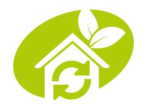 pictogramme - maison verte écologique